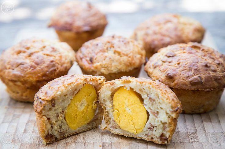 Αλμυρά muffins με ολόκληρο αυγό - madameginger.com