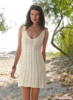 Очаровательное платье по-французски.(Бержер). Спицами.
