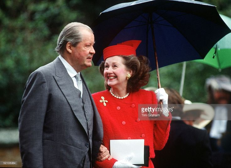 Earl Spencer And His Wife Raine At The Wedding Of His Son Charles, Viscount Althorp In Northamptonshire. (raine Mccorquodale, Countess Raine De Chambrun).