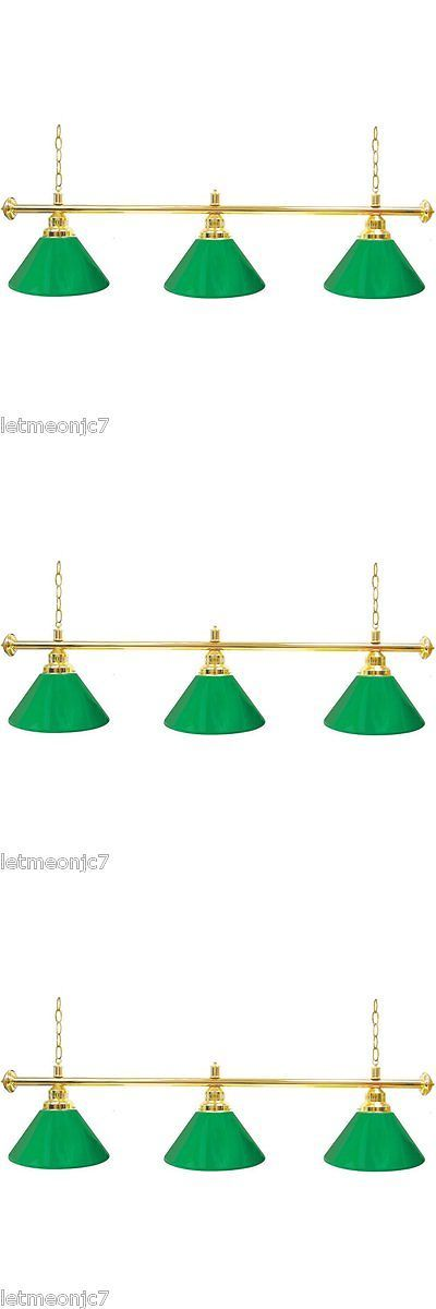Table Lights and Lamps 75189: Green Pool Table Lights For Sale Billiard Hanging Ceiling Game Room Bar 3 Shade -> BUY IT NOW ONLY: $99.25 on eBay!