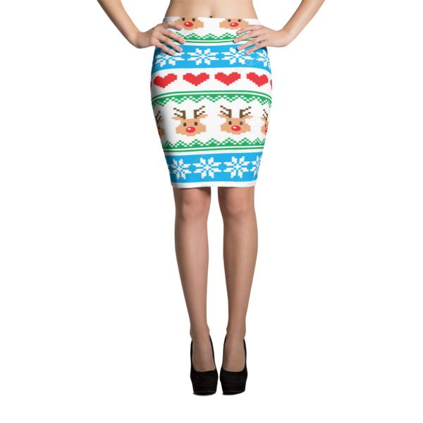 Look great in all-over printed, body-hugging pencil style skirt with elastic waistband. • Imported fabric: 82% polyester/18% spandex • Printed, hand-cut, and -sewn with love in the USA • Material has a four-way stretch, which means fabric stretches and recovers on the cross and lengthwise grains. • Elastic waistband • Made with a smooth, comfortable […]