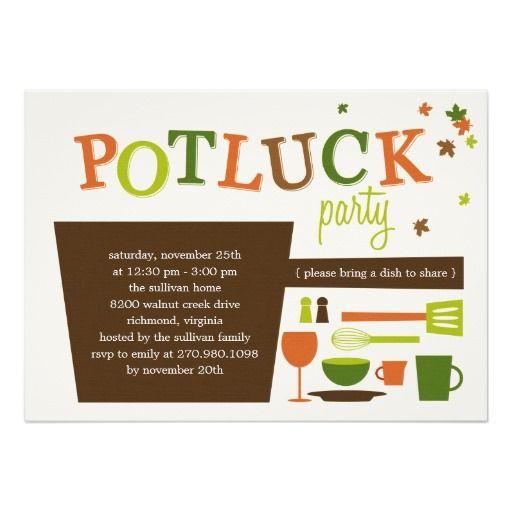 Thanksgiving Potluck Party Invitation
