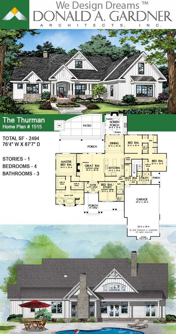 House Plan The Thurman Home Plan In 2020 Craftsman House Plans New House Plans Craftsman Style House Plans