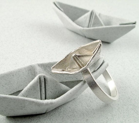 Hey, I found this really awesome Etsy listing at https://www.etsy.com/listing/57450589/origami-jewelry-silver-boat-ring-origami