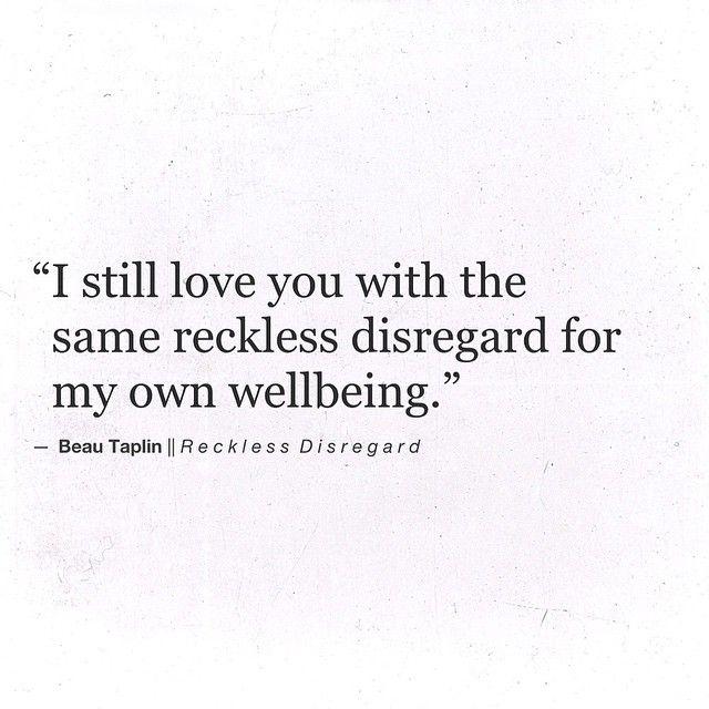 Beau Taplin | Reckless Disregard