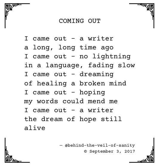 Coming Out Poems 3