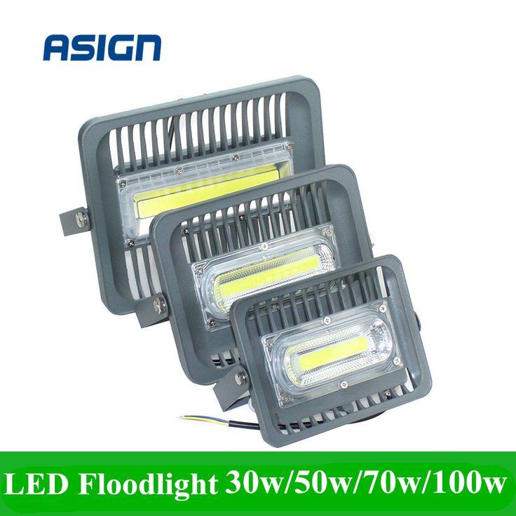 2017 Baru DIPIMPIN Cahaya Banjir 30 W 50 W 70 W 100 W LED Pencahayaan Outdoor AC85-265V IP66 Tahan Air DIPIMPIN Lampu Sorot Reflektor LED COB Chip