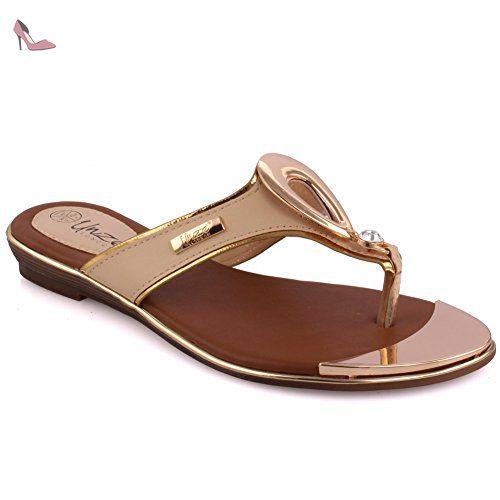 Womens L16755 Open Toe Flats Unze 65Qz4VwE