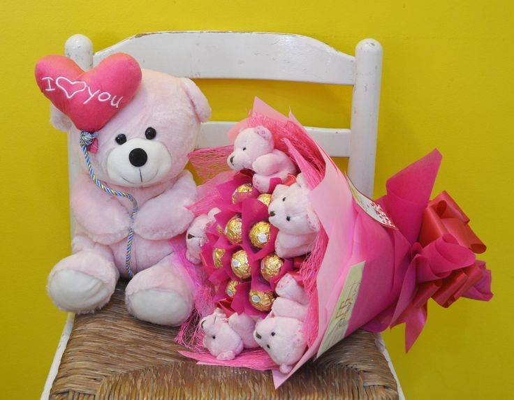 Love Bear and Chocolate Bouquet   #gifts #giftideas #online #giftshop #davao #sweetgift #chocolates #crafts