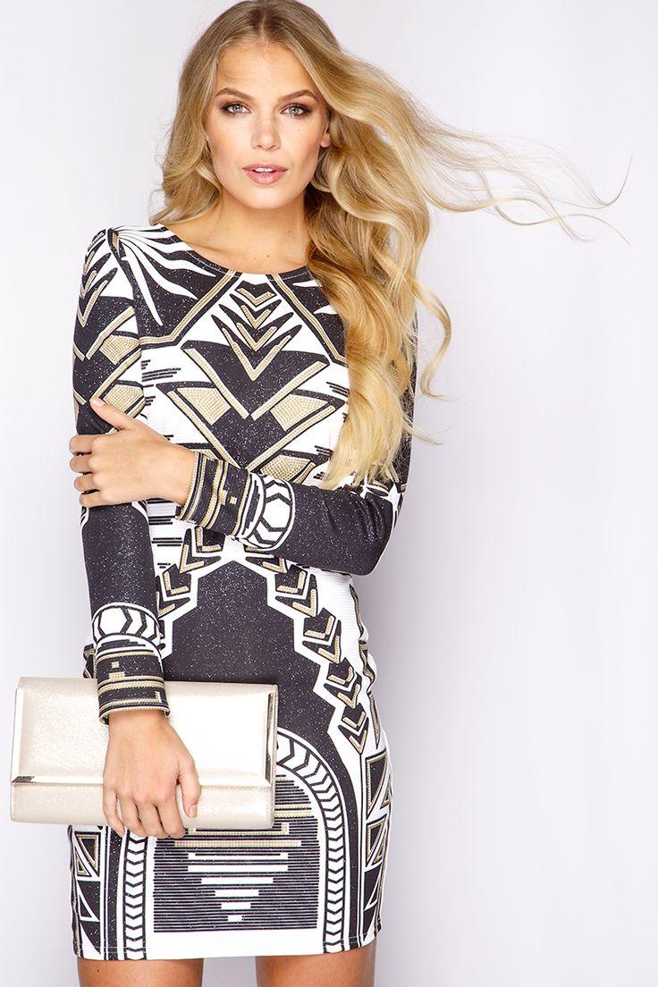 Sukienka mini aztek glitter