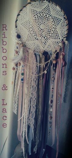 Ribbon & Lace Dream Catcher                                                                                                                                                                                 More