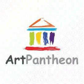 Exclusive Customizable Logo For Sale: Art Pantheon | StockLogos.com