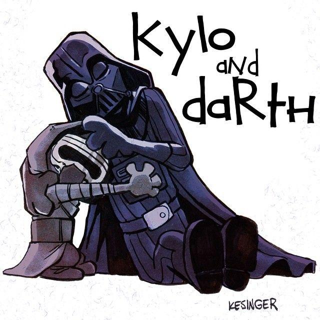 Kylo Ren and Darth Vader x Calvin and Hobbes