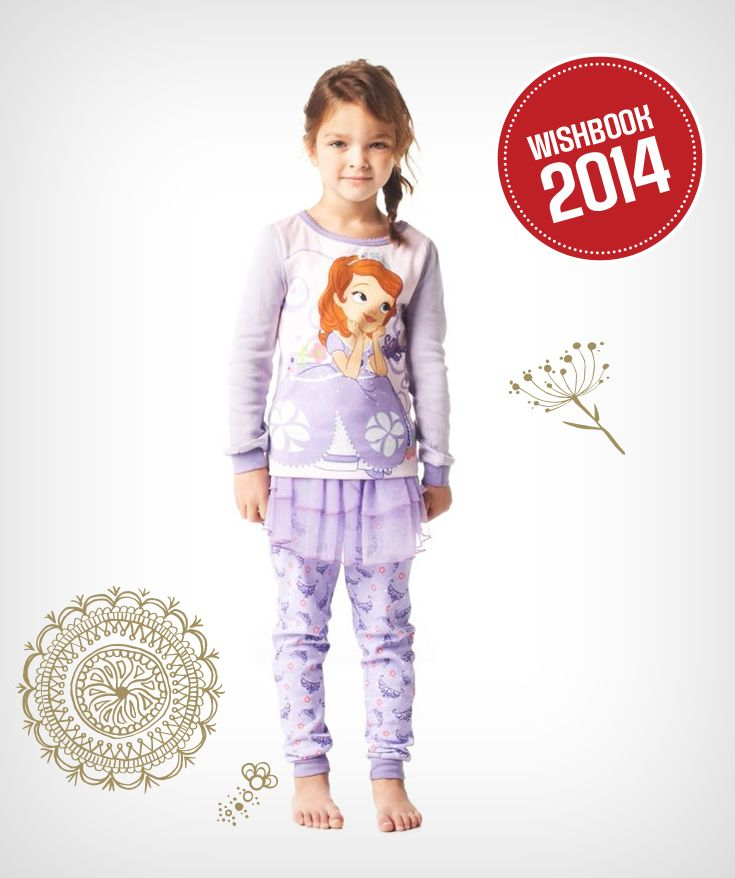 She'll stay warm this holiday season in a pretty little dancer inspired pyjama set. It also pairs her up with her favourite Disney character, Sofia the First