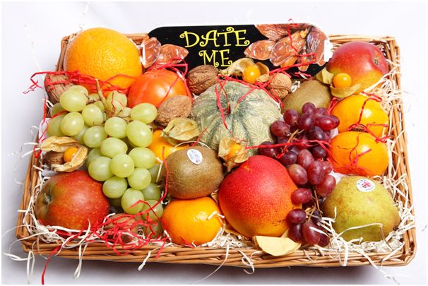 Classic fruit basket beautifully presented