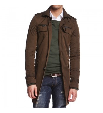 Trench with military details. http://shop.mangano.com/en/jackets/16501-steven.html  #trench #menswear #clothing #apparel #fashion