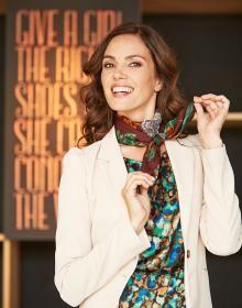 Vrouw met sjaal