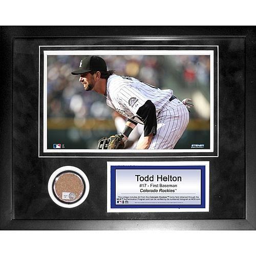 Steiner Sports MLB Todd Helton Mini Dirt Collage - Colorado Rockies
