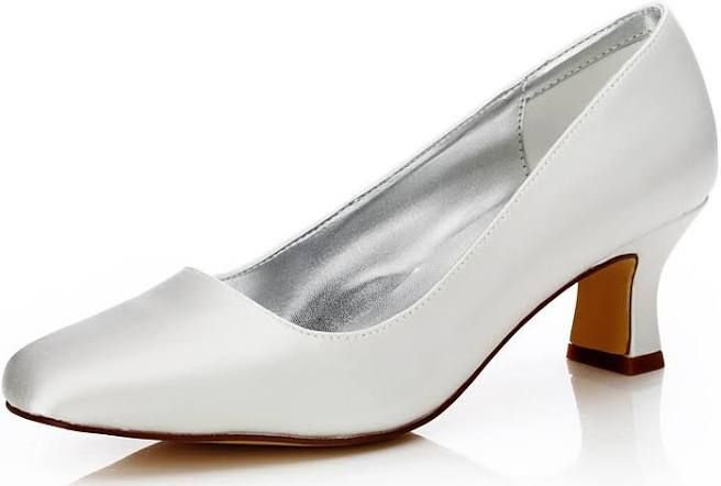 Lightinthebox Wedding Shoes Dyeable Wedding Shoes Chunky Heel Square Toe Silk Comfort Dyeable Shoes In 2020 Bridal Shoes Low Heel Dyeable Wedding Shoes Dyeable Shoes