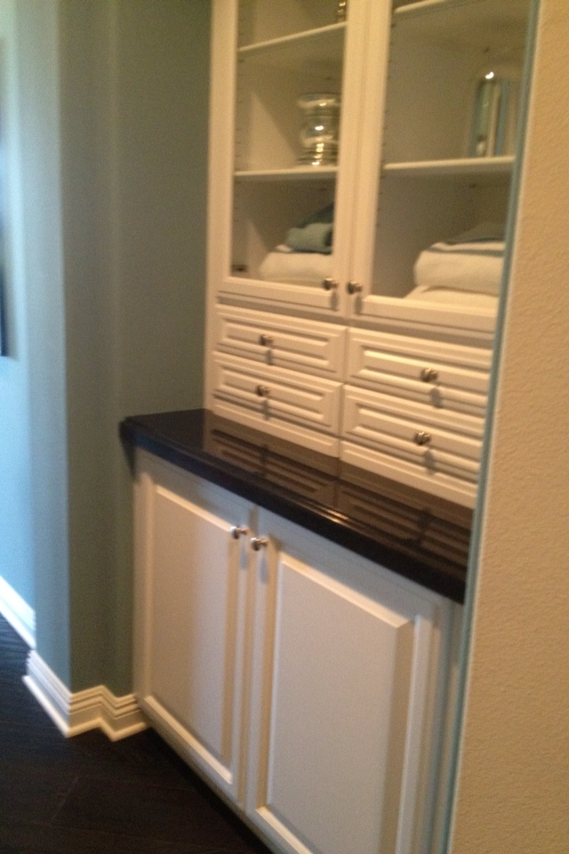 builtin linen closet fancy