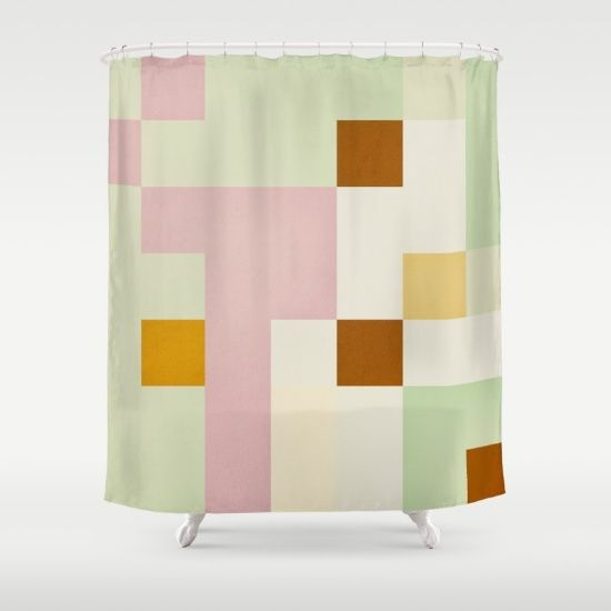 Pixelmania XV Shower Curtain by Metron on Society6 @society6 #society6 #shower #curtain #pixel #color #green #pink #orange #yellow  #products #design #shop #shopping #buy #sale #fun #gift #idea #accessory #accessories #home #decor #style #fashion #art #digital #contemporary #cool #hip #awesome #awesomeness #chic #fashion #style #print #wall #homedecor #sweet