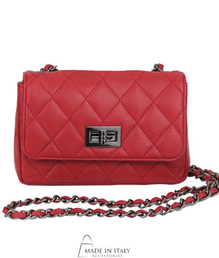 Francesca Collection | Red Italian Leather Quilted Bags for Women | Made in Italy Accessories  https://madeinitalyaccessories.com/francesca-leather-bag