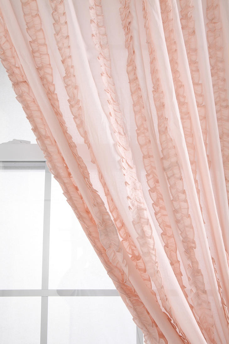 Light pink ruffled curtains - Curtains For Girl Nursery Hmm I Kinda Like These I Wonder If Ruffled Curtainspink