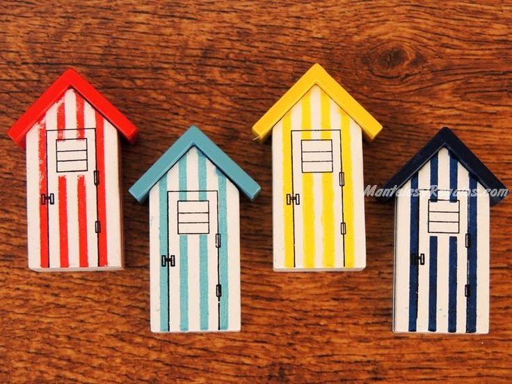 Imanes de nevera - Modelo CASETA DE PLAYA (4 colores para elegir)