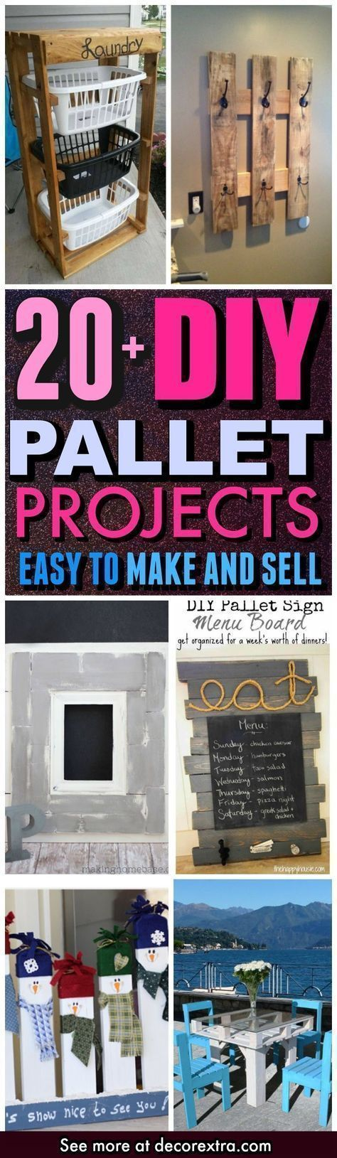 DIY Pallet Projects, Ideas and Crafts To Make and Sell, Cheap DIY Ideas, Craft Projects You Can Sell On Etsy, Wood Pallet DIY Made Easy With Step by Step Tutorials - Easy and Quick DIY Projects and Crafts http://decorextra.com/diy-pallet-projects-easy-to-make-and-sell/ #sellhousebyowner #craftstomake #palletprojects #craftstomakeandsell #woodcraftsideas