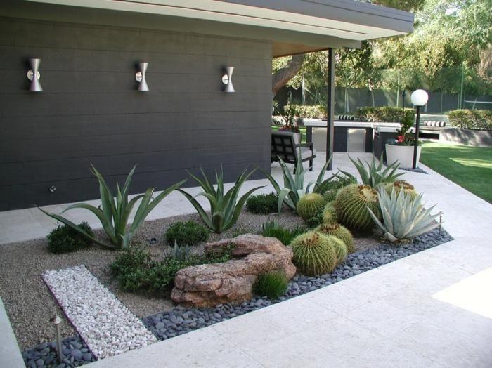 Raumideen und Designs inspirierender moderner Gärten.
