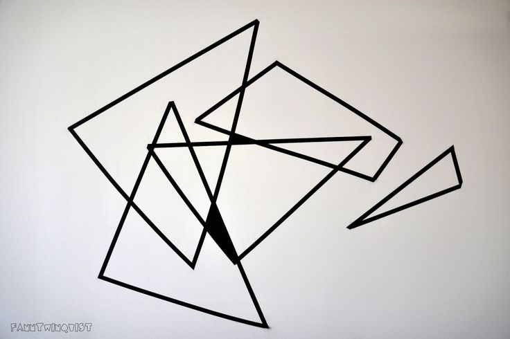 Washi tape / wall art / pysslish.blogspot.se