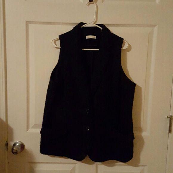 Tweed best Black tweed best Coldwater Creek Jackets & Coats Vests