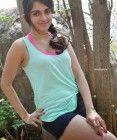 Sheena Shahabadi in Shorts at Gaddam Gang Telugu Movie On Location (76)