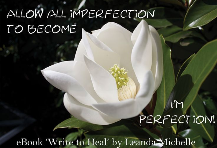 """Allow all imperfection to become I'mPerfection"" (excerpt from 'Write to Heal' eBook by Leanda Michelle)"
