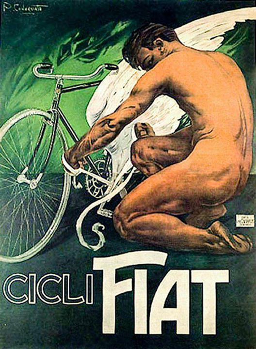 cicli fiat #old #bicycles #posters