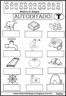 Autoditado para alfabetização com a letra T