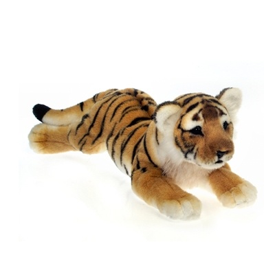 Lying Realistic Stuffed Tiger by Fiesta Maybe the party could give out such cuteness stuffed tigers like this one to everybody at the party :D