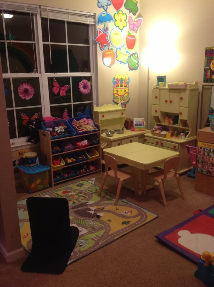 Small area home childcare setup let 39 s see some photos of for Small room 7 1 setup