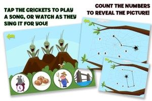 This app has a nice combination of learning games for preschoolers – cute, fun, & engaging! Who knew playing with bugs could be so much fun?