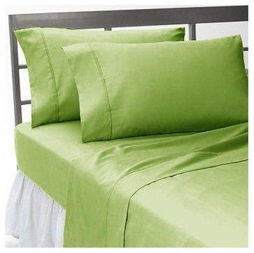 400TC 100% Egyptian Cotton Solid Sage King Size Flat Sheet asian sheets