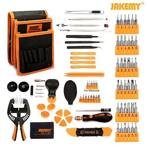 Jakemy Screwdriver Set, 89 in 1 with 54 Magnetic Precision Driver Bits, Screwdriver Kit with Pocket Tool Bag for iphone 8 / Plus , Computer, Macbook Repair  https://topcellulardeals.com/product/jakemy-screwdriver-set-89-in-1-with-54-magnetic-precision-driver-bits-screwdriver-kit-with-pocket-tool-bag-for-iphone-8-plus-computer-macbook-repair/  Screwdriver set 89 in 1 Full Set – included 54 chrome-vanadium steel magnetic bits, handle, opening plier, LCD suction cup, preci