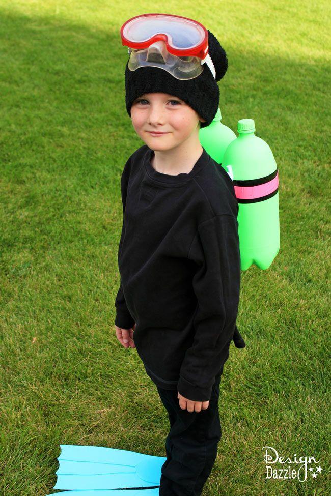 diy scuba diver halloween costume - Simple Toddler Halloween Costumes