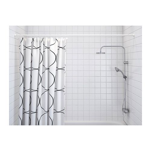 ORE Shower curtain rod, white white 110-200 cm