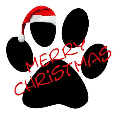 paw print clip art christmas | Dog lovers will love this ...