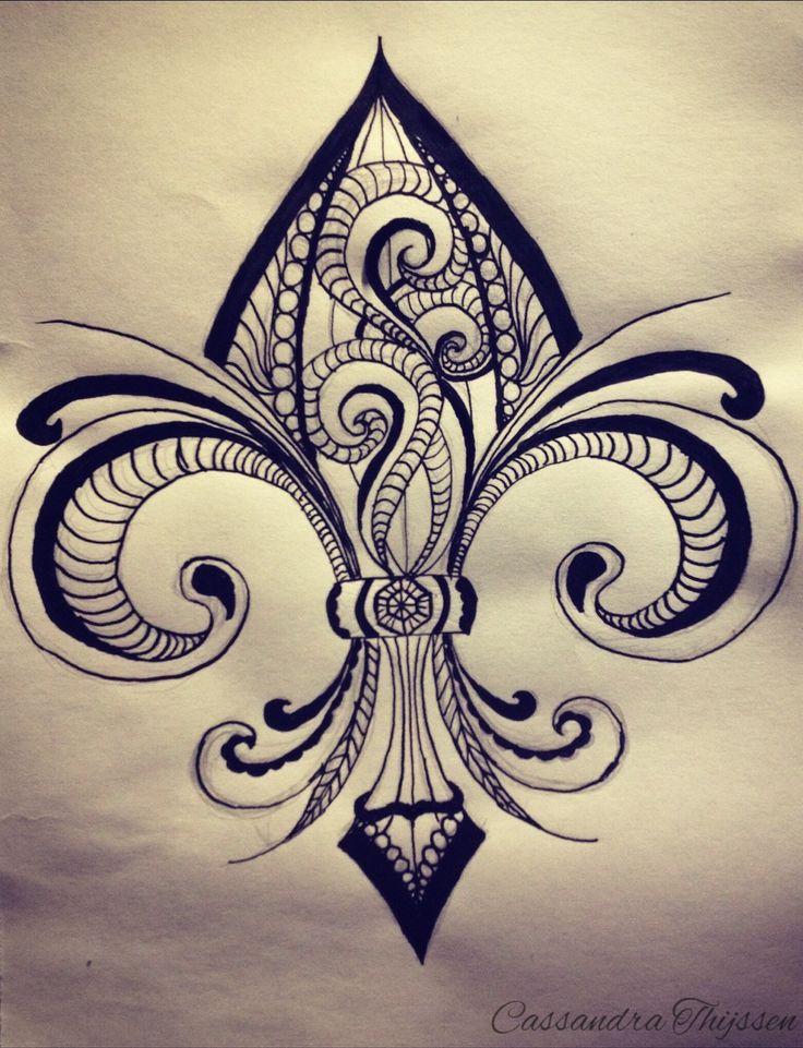 Best 25 fleur de lis tattoo ideas on pinterest new orleans tattoo templates and fleur de lis - Dessin fleur de lys ...