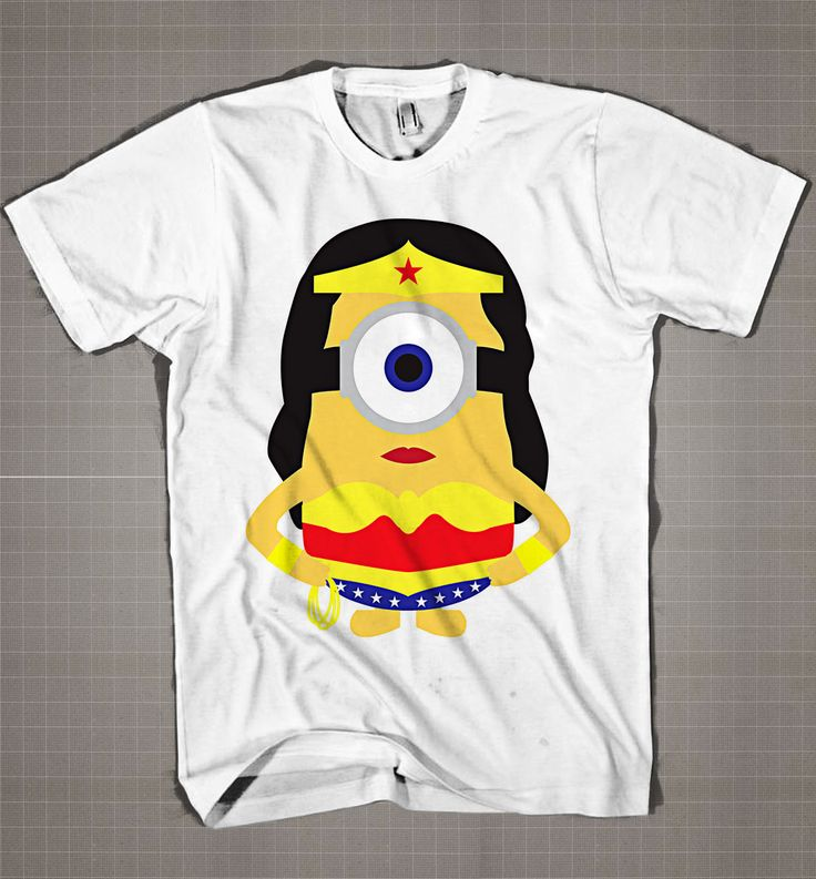 Wonder Women Minion  Mens and Women T-Shirt Available Color Black And White