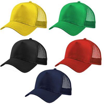 GORRA POLIESTER REF:CH-650   Gorra en Poliéster con 5 Cascos. 4 Cascos en Malla Frente Fusionado en Poliéster Acolchado. Botón Forrado y Cierre Plástico a Presión. Tipo de Producto: IMPORTADO. Técnica de Marca: Bordado. Colores Disponibles: Azul Oscuro, Negro, Amarillo, Naranja, Verde y Rojo.