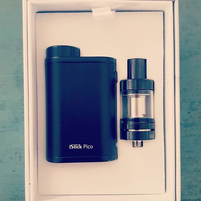 Who doesn't love opening a new mod? We are loving the istick pico for only $64.95, check it out  @vaporaecigs  #treatyoself #newvape #presenttome #istickpico #ecigs #eleaf