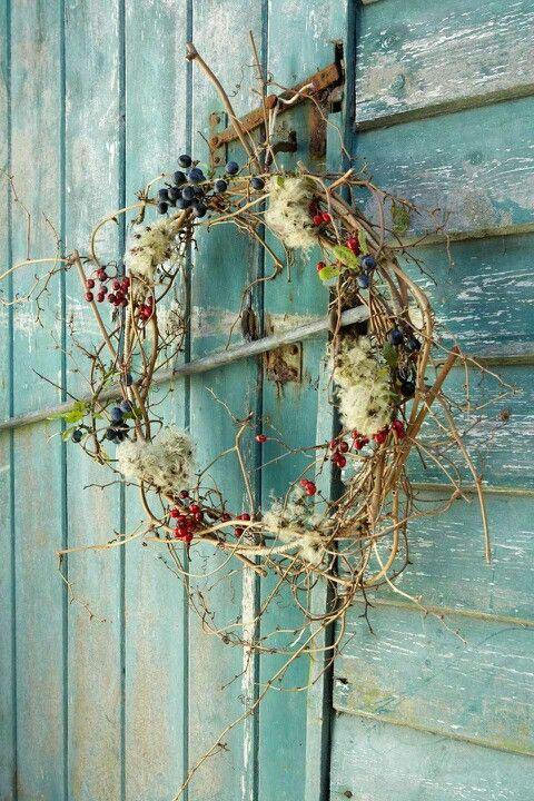 Rustic Fall Wreath: Ideas, Craft, Blue, Color, By, Garden, Wreaths, Flower