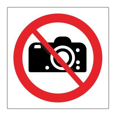 Fotografering forbudt symbol - Kjøp Forbudsskilt her